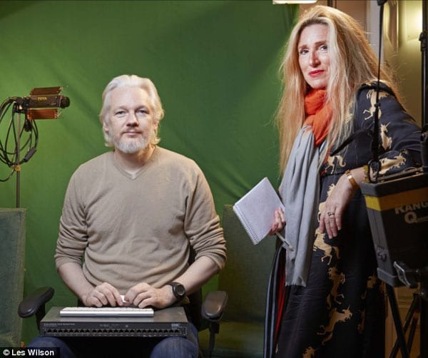 Julian Assange with Sarah Oliver