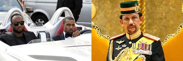 Kim Kardashian's husband Kanye West and The Sultan of Brunei are both known for their love of cars