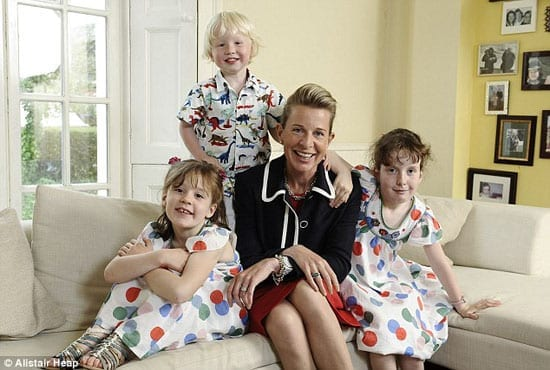 Katie Hopkins flaunts her children even in an attempt to generate cash