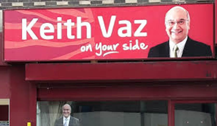 Picture of the Week – Vanishing Vaz – Keith Vaz MP sign gets binned – Completing his disgrace, rent boy loving ex-Labour MP Keith Vaz's 'On Your Side' sign is finally removed from his constituency office.