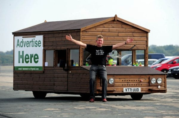 Kevin Nicks has created a driveable shed
