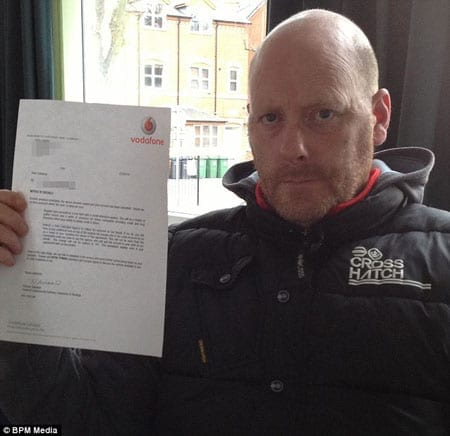 Whingeing Brit Kevin Waldrum shares his £91,000 Vodafone bill with the world