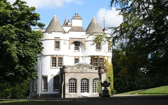 Kinpurnie Castle is the second main property