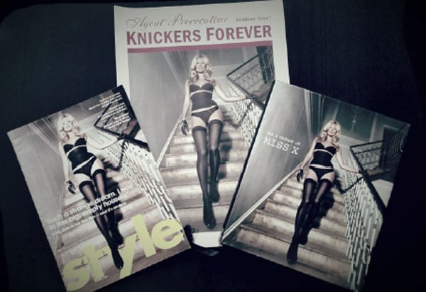 """""""Knickers Forever"""" features in Knight Frank's brochure for 33 Portland Place"""