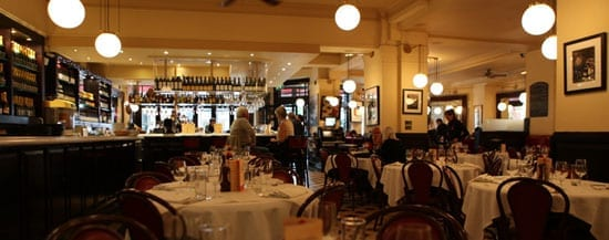 La Brasserie is famous for its bar and has been open since 1972