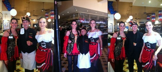 The staff at La Brasserie celebrate Bastille Day with gusto