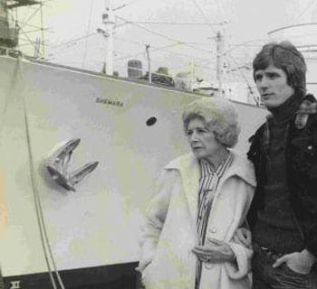 Lady Docker visiting the Shemara in 1977