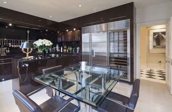 Lady Docker would undoubtedly approve of the apartment's opulent Macassar ebony and granite kitchen