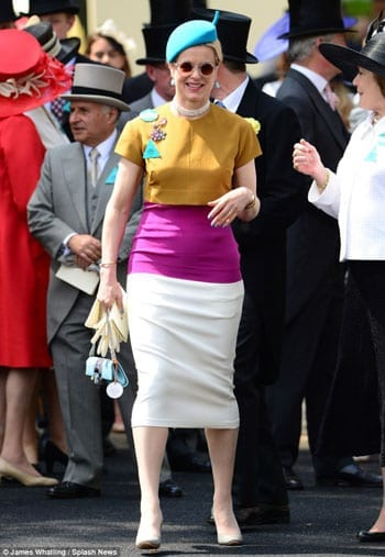 Colourful Lady Helen Taylor resembles a traffic cone