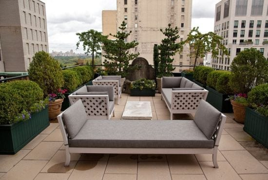 This large roof terrace has ample space for entertaining
