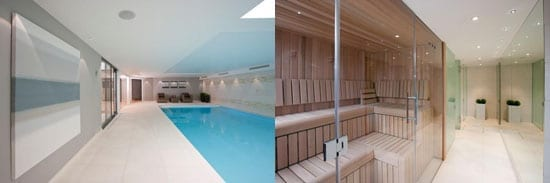 Leisure facilities include an indoor swimming pool and sauna