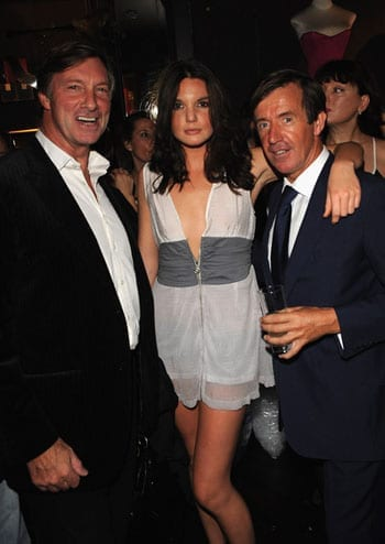 Lord Brocket at a party with his daughter Antalya Nall-Cain and photographer John Stoddart