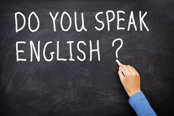 "Losing language - Francis Megahy asks: ""Do you speak English?"""