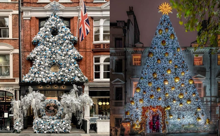 "O (Costly) Christmas Tree, O (Costly) Christmas Tree – London declared ""more merry"" than New York as it is revealed Christmas trees in the former can be had for sums 50,000% less than the latter. Claridge's, Poundland, Home Bargains, Maddox Gallery, Annabel's, Tamara Ecclestone, Soho Trees, Cindy Adams, Aretha Franklin."