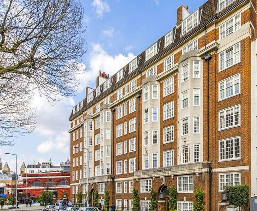 A Serious Shed - £3.25 million flat in Malvern Court, SW7 – South Kensington apartment with 'summer house' shed for sale for £3.25m. Ground floor lateral flat is on with Knight Frank.