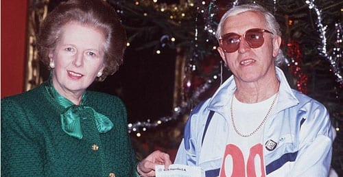 Margaret Thatcher and Jimmy Savile