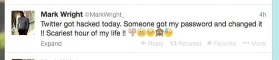 "Mark Wright's tweet about the ""scariest hour"" of his life"