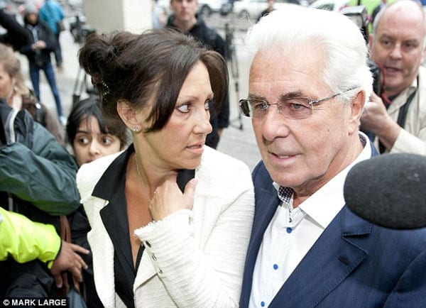 Max Clifford with his now ex-wife Jo Westwood