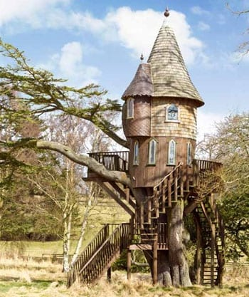 There is even a tree house within the grounds
