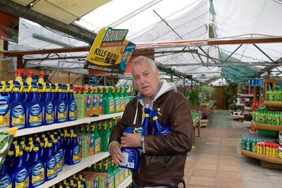Michael Barrymore is keeping himself busy working with weedkiller these days