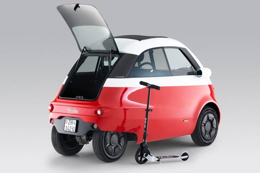 The Bubble is Back – £10,800 for minute Microlino electric car – New electric Swiss 'bubble car' expected to launch in December; 7,200 orders have already been placed for the £10,800 Microlino.