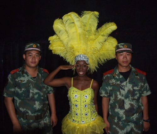 Miss US Virgin Islands a reserve in the US army salutes 500 1