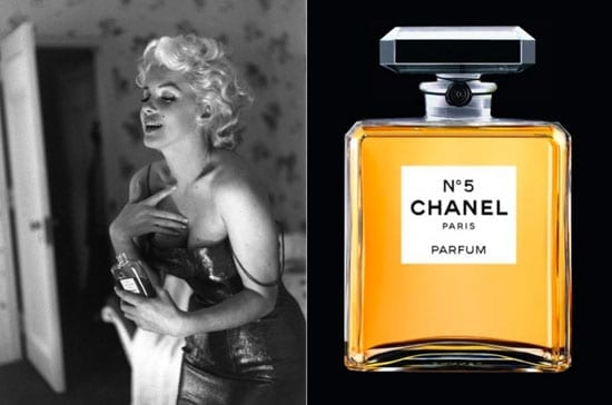 "Marilyn Monroe when asked ""What did you have on?"" after a photo shoot replied ""Chanel No 5"""