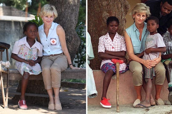 Spot the difference: Naomi Watts as Princess Diana and Princess Diana as Princess Diana
