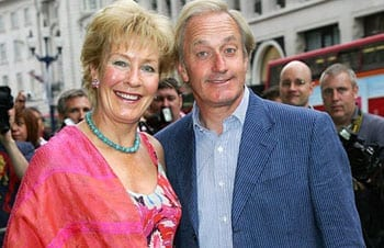 Neil Hamilton with his wife, Christine