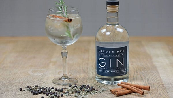 Airport gin - Nicholas Culpeper London Dry Gin made at Gatwick Airport launched - First gin made in an airport