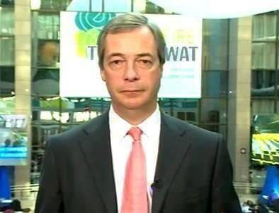 Nigel Farage chose to pose in rather an unfortunate position