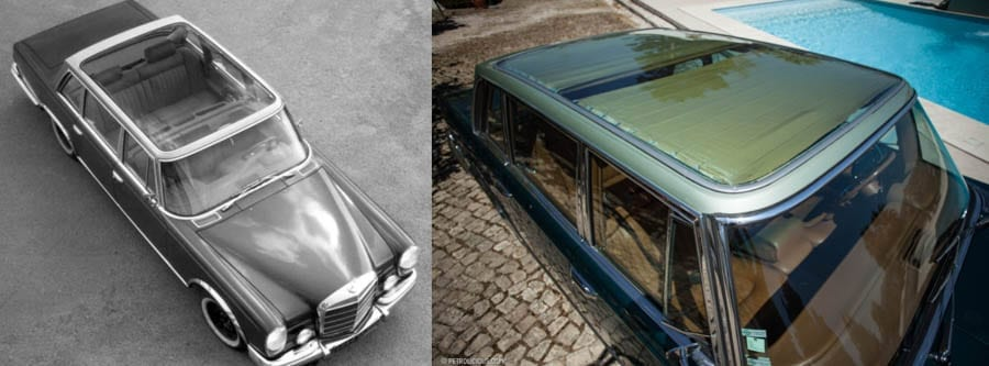 A Louche Limo – 1966 Mercedes-Benz 600 sedan by Henri Chapron of Paris complete with 'Jimmy Savile-esque' fold-down bed to be auctioned as part of the Sáragga Collection by RM Sotheby's near Comporta, Portugal on 21st September 2019; it was created for the eccentric Armenian oil magnate Nubar Gulbenkian.