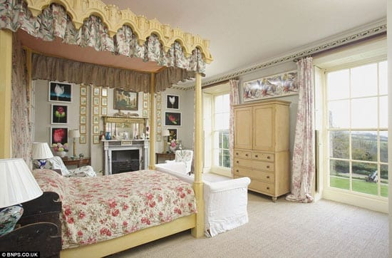 One of eight bedrooms