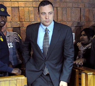 Oscar Pistorious in court on Tuesday 4th June 2013