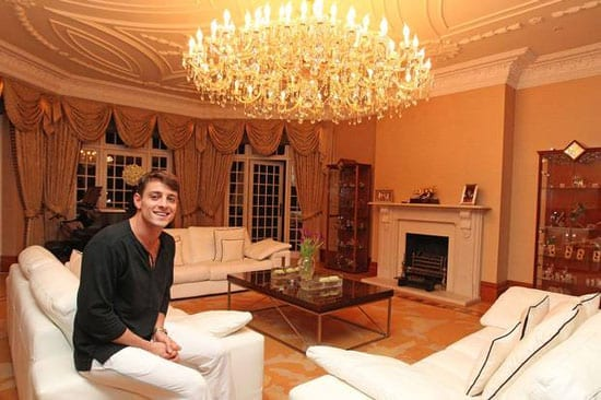 Pablo Teixeira pictured in a rather gaudy living room