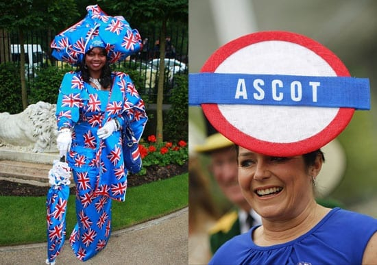 A true patriot and a lady who doesn't realise that the London Underground doesn't actually reach Ascot
