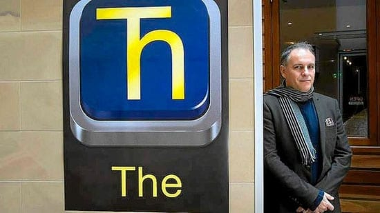Paul Mathis with his 'Ћ' symbol... We suspect this is just a publicity stunt and it's one that we don't especially like