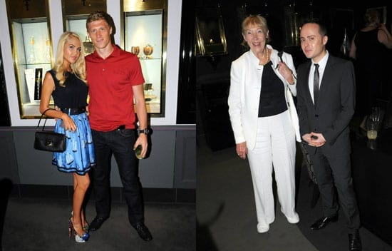 Guests numbered Pavel Pogrebnyak and his wife Maria and Barbara Minto and friend