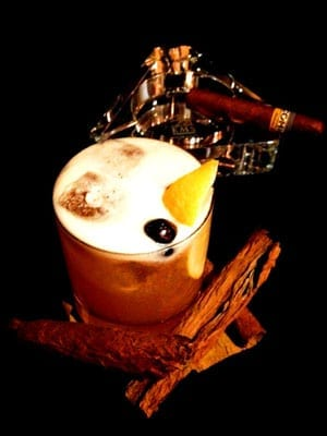 Pavel and Sandra's smoked whiskey sour