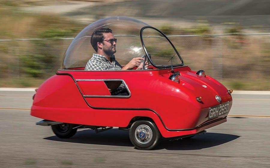 "A Pint-Sized Peel – ""World's smallest two seater"" to be auctioned – 1965 Peel Trident – To be sold by RM Sotheby's at their Monterey, California sale with no reserve but expected to achieve upwards of £80,000 ($103,000, €92,000 or درهم379,000) – 18th to 19th August 2017"