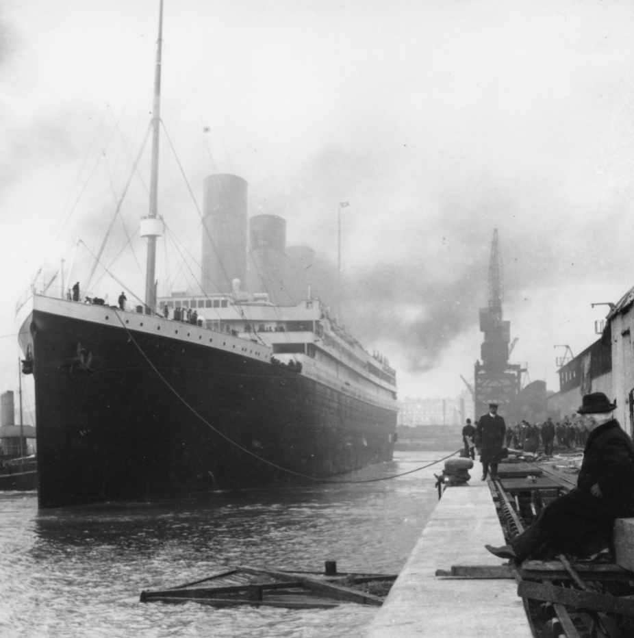 """The RMS Titanic which sank on 15th April 1912 at 41°43'57""""N, 49°56'49""""W"""