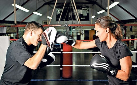 Pippa Middleton tries out boxing for 'The Telegraph'