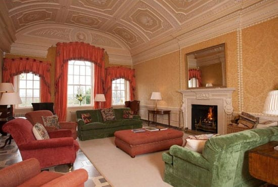 Plasterwork dominates the drawing room of Thornhill Park