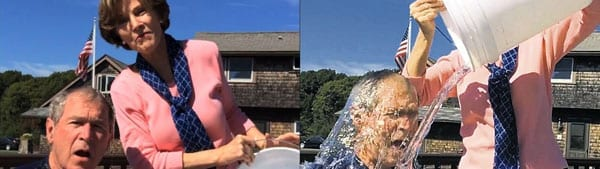 President George W. Bush is amongst those who have taken the Ice Bucket Challenge