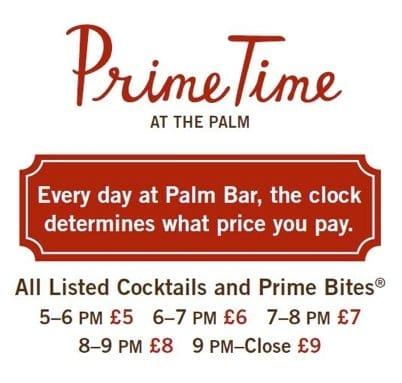 "The ""Prime Time at The Palm"" offer"