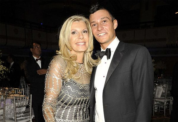 Princess Yasmin Aga Khan with her son Andrew Embiricos