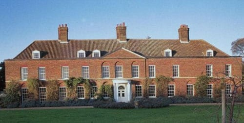 Principal elevation of Anmer Hall, Anmer, King's Lynn, Norfolk, PE31 6RW