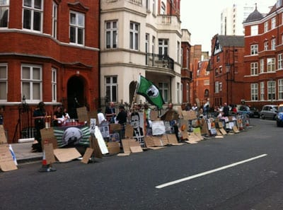 Back in June 2013, huge numbers gathered to support Julian Assange