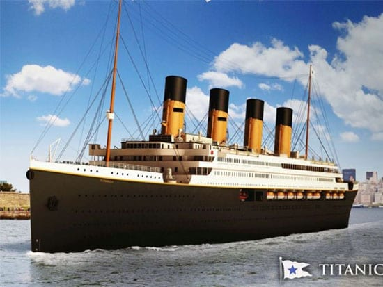An image of how the Blue Star Line's Titanic II will look