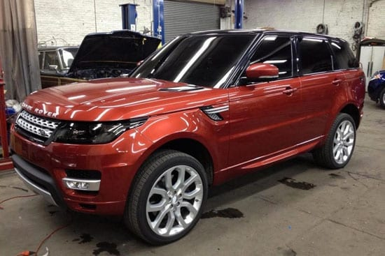 A leaked image of the 2014 Range Rover Sport. The vehicle will be available as a 5.0 litre V8, 5.0 litre supercharged V8 and a 3.0 litre supercharged V6.